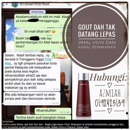 rawat gout, ubat gout, sembuh gout, hilangkan sakit gout, supplement gout, testimoni gout